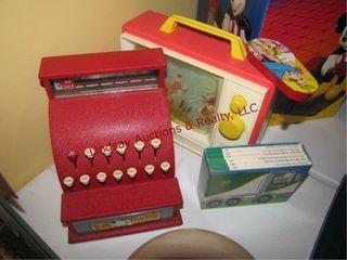 4pcs of vintage toys  Tom Thumb cash register