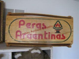 Peras Argentinas fruit crate 20x12x10