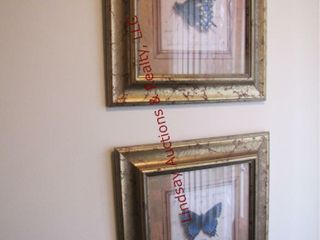 Pair of butterfly pictures 16 x 16