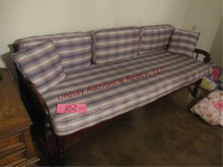 Sofa w  pullout to make a bed  74  long x 27 deep