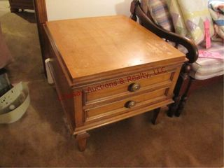 2 drawer end table 24 5 x 27 5 x 21 5