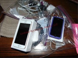 2 iphones   bag of other items SEE PICS