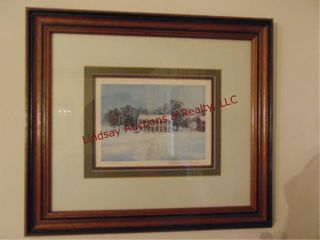 Signed   numbered print by Robert M  Rufker