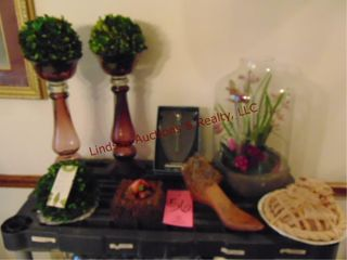 Pair of vases  floral arrangement   other SEE PICS