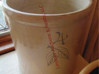 Birch leaf 4 gallon crock  has been repaired  has