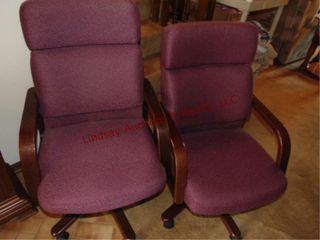 2 office chairs on whls