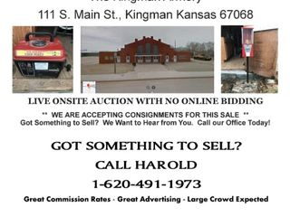 LIVE AUCTION - Kingman Kansas ( CONSIGNMENTS WANTED