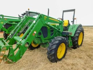 2010 JD 6430 MFW tractor  673 ldr  bucket   spike