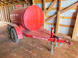 Circle D tandem axle fuel trailer