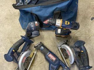 Ryobi 18V Set of Tools Including