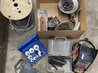 Welding Helmet, Elec Wire,Drill Bits, Hole Saw