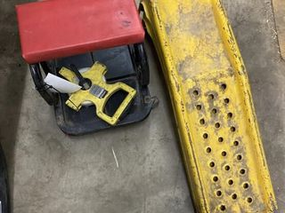 Car Ramps, Shop Dolly & 100' Tape