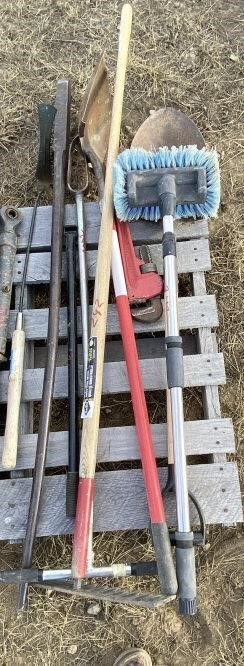 Rake, Shovel, Spade, Pipe Wrench & More