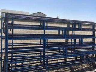 15 10ft Blue 6 Bar - Corral Panels