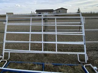 3 - 10' 6 Bar Panels & 1 6' Gate