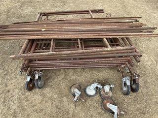 10 Pieces of Scaffolding w/8 Wheels