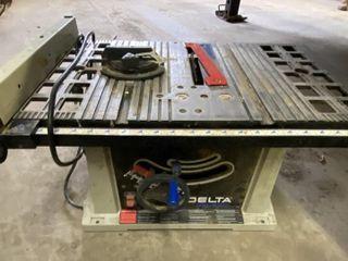 "Delta Shop Master 12"" Table Saw Bench Model"