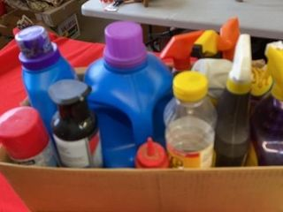 BOX OF ClEANERS AND DETERGENTS BIG DETERGENT IS