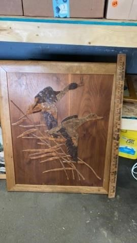 WOODEN HAND MADE BIRD PICTURE