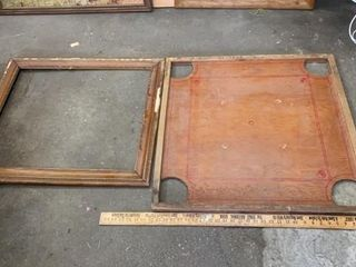 ANTIQUE GAME BOARD AND FRAME