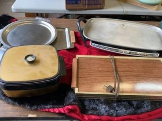 ElECTRIC GRIDDlE  WARMERS  TRAYS AND CUTTING