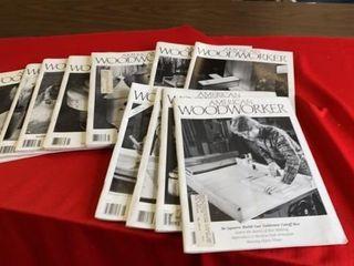 11 AMERICAN WOOD WORKER MAGAZINES