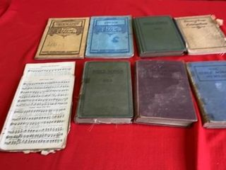VINTAGE HYMNAlS AND SONG BOOKS AND 1940IJS SCHOOl