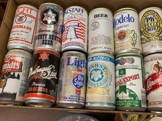 12 VINTAGE BEER CANS