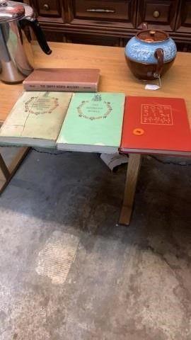 4 VINTAGE HARD COVER BOOKS