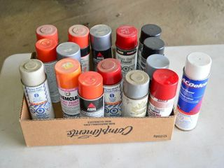 Box of Machinery Spray Paint   new and used