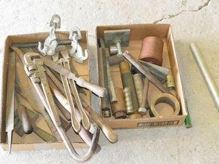 2  Boxes of Old Tools and Hardware