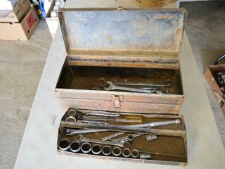 Metal Toolbox with Contents