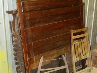 Vintage Victorian 3 4 bed  buck saw  chair