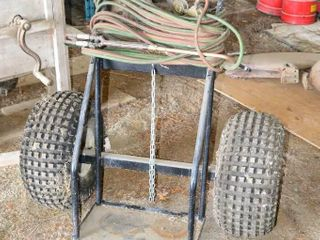 Oxy Acetylene set on cart Check out the tires