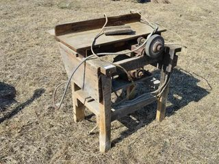 Homemade Wooden Table Saw and Grinder