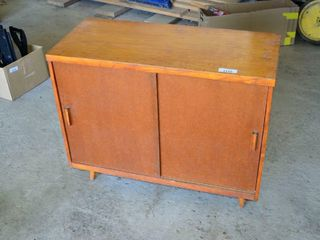 Wooden Cabinet with Shelf  36  x 16  x 30 h