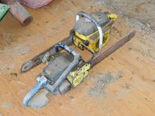 2  Old Chainsaws   for parts   repair