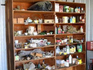 Contents of Shelving Unit   Paints  Oils  Parts