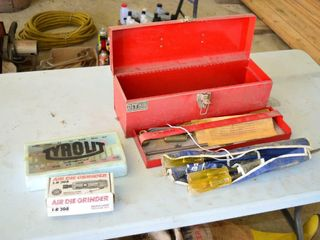 19  Toolbox with Contents   Air Grinder