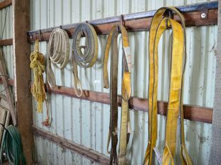 Grp  of Nylon Slings and light Rope