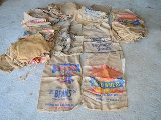 large Quantity of Assorted Burlap Sacks