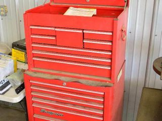 Snap On 2 Stage Tool Chest on Castors with