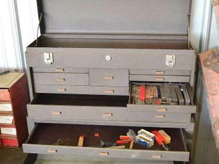 2 Stage Machinists Chest with Contents