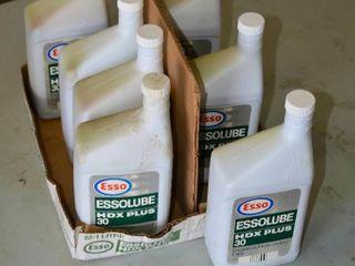 7  1l Bottles of Essolube HDX Plus 30 Engine Oil