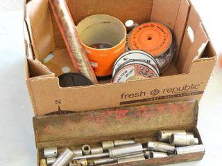 Box of Grinding and Sanding Discs  Auger Bit