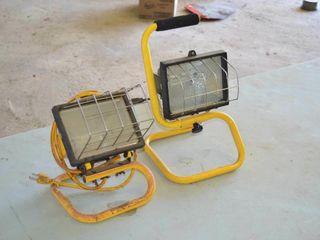 2  Halogen Work lights