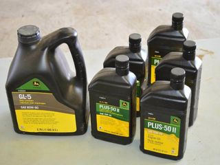 Box of JD 15W040 and Gear Oil