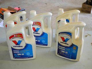 5  Jugs of Valvoline 10W 30 Engine Oil