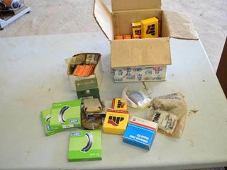 Box of Assorted Bearings  Seals and Races