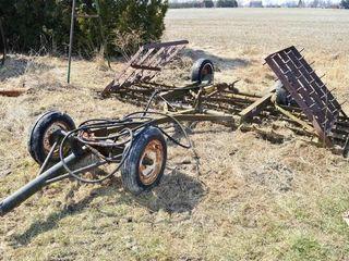 22ft Harrogator with Cart  Hyd  lift Axle
